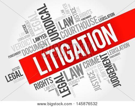 Litigation word cloud concept , presentation background