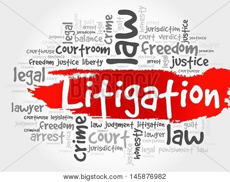 Litigation word cloud concept , presentation background
