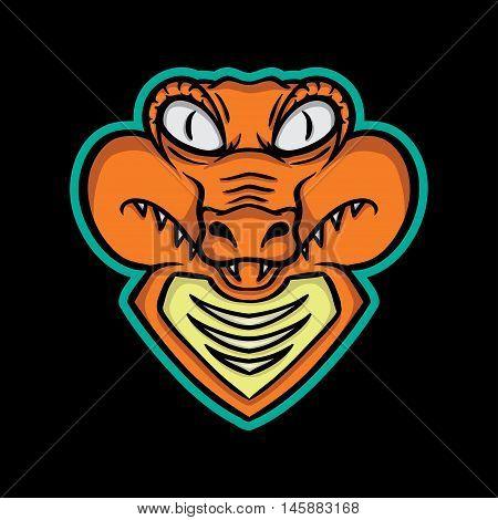 Crocodile Mascot, Crocodile Mascot Concept, Crocodile Icon, Crocodile Logo