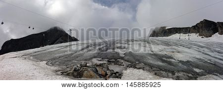 Glacier of Kitzsteinhorn in summer, Kaprun, Austria