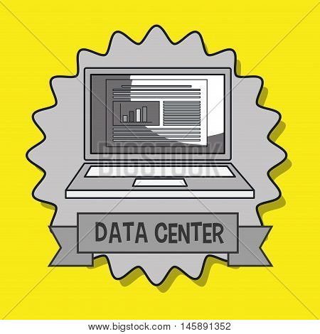 data center laptop doc vector illustration eps10