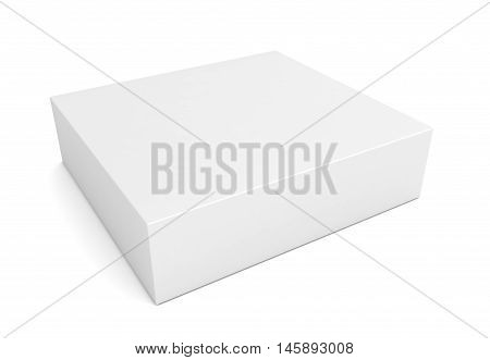 blank retail product box 3d illustration isolated on white background