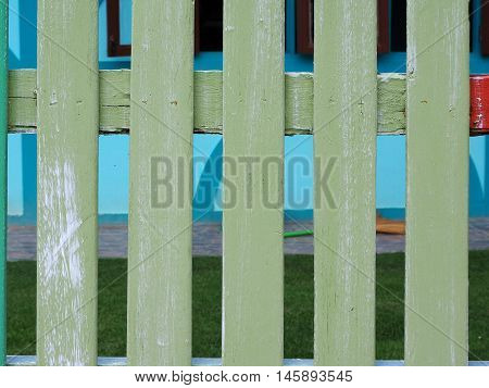 Wooden Fence make from ole planks background.
