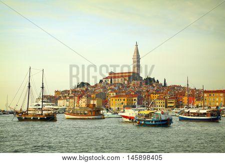 Old town of Rovinj. Peninsula,Croatia,Europe