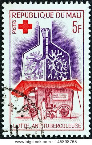 MALI - CIRCA 1965: A stamp printed in Mali from the