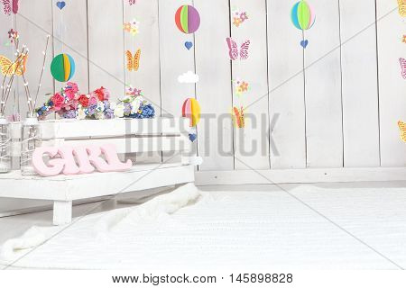baby girl child photography studio background setup