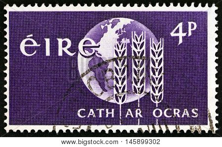 IRELAND - CIRCA 1963: A stamp printed in Ireland from the