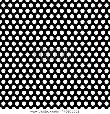 Seamlessly repeatable pattern with dots circles. Monochrome abstract illustration in speckled halftone style. Geometric pointillist texture. poster
