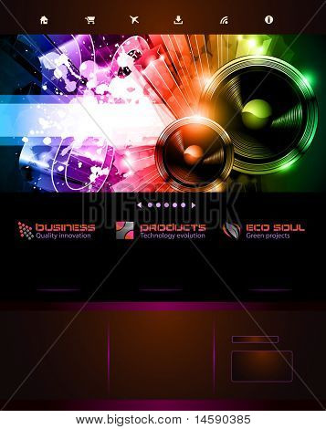 Music Themed Web template or Blog Graphics