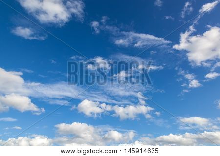 Blue sky with a clouds the closeup.
