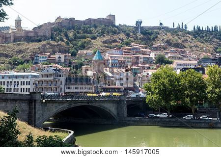 Old Town In The Capital Of Georgia.tbilisi