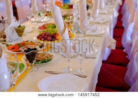 Food At Banquet