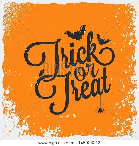 Trick or treat halloween vintage lettering background 8 eps