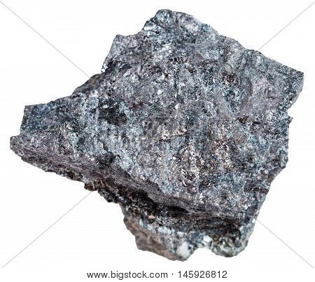 Piece Of Magnetite Ore Isolated On White