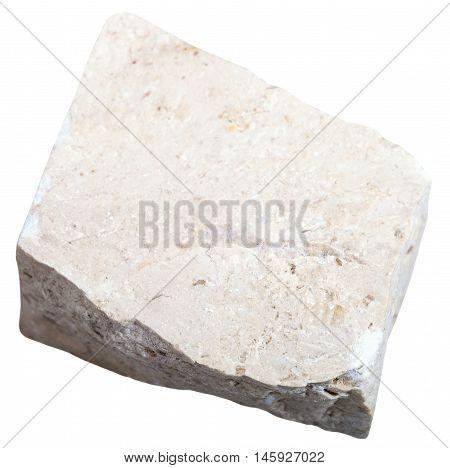 Chemogenic Limestone Stone Isolated