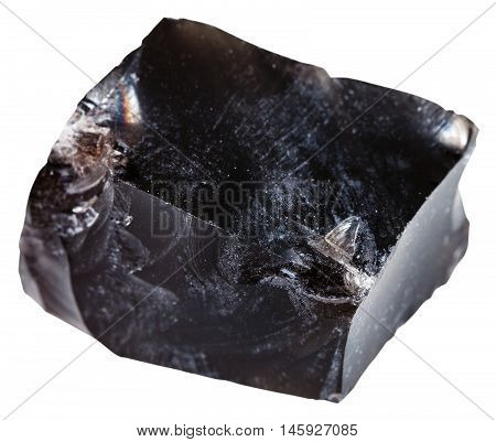 Black Obsidian (volcanic Glass) Mineral Isolated