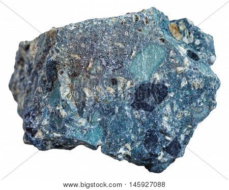 Natural Kimberlite Mineral Isolated On White