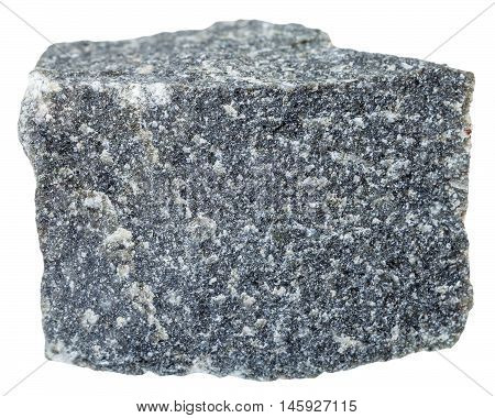 Andesite Stone Isolated On White Background
