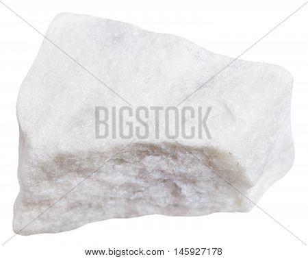 White Marble Stone Isolated