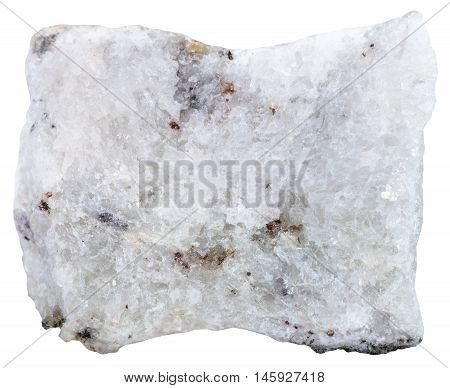 Carbonatite Mineral Isolated On White Background