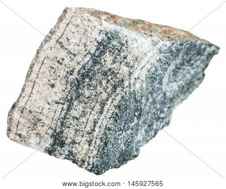 Skarn (tactite) Stone Isolated On White