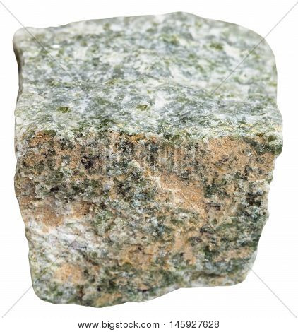 Quartz Mica Schist Stone Isolated On White