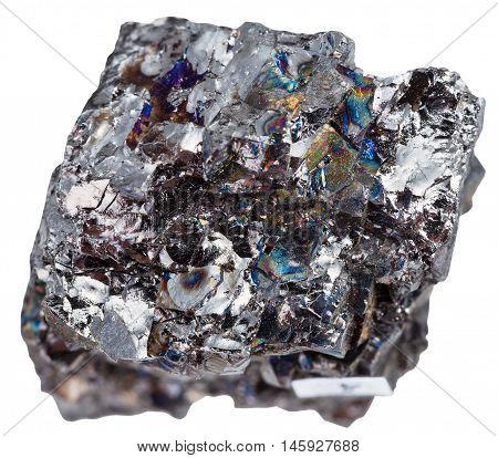 Specimen Of Black Coal (anthracite) Isolated