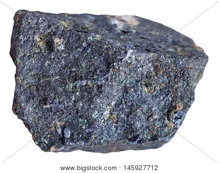 Molybdenite Stone Isolated On White