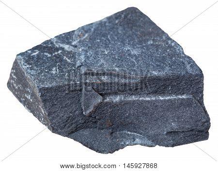 Argillite (mudstone) Mineral Isolated On White