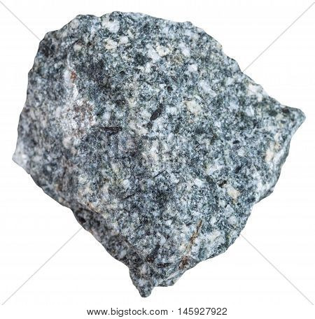 Diorite Stone Isolated On White