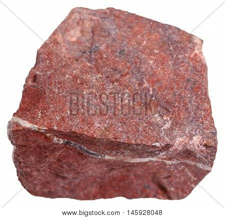 Red Jasper Mineral Isolated On White