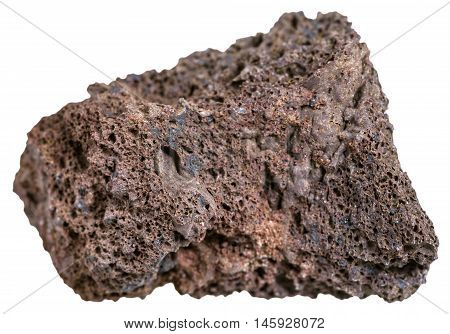 Natural Brown Pumice Stone Isolated On White