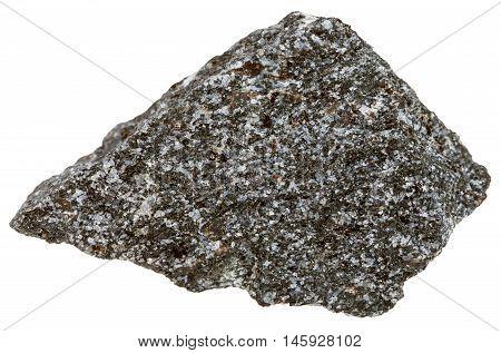 Nepheline Syenite Mineral Isolated On White