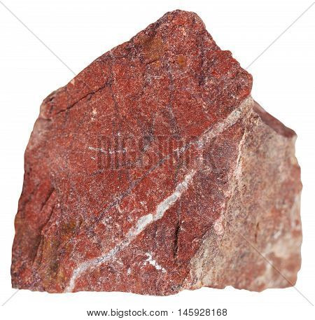 Piece Of Red Jasper Mineral Isolated