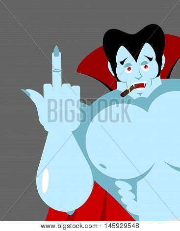 Bully Bad Dracula Reveals To Fuck. Vampire With Cigar. Big Muscles. Aggressive Ghoul