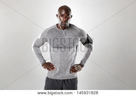 Handsome Young African Man Listening To Music