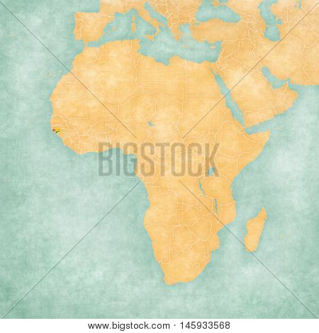 Map Of Africa - Guinea-bissau