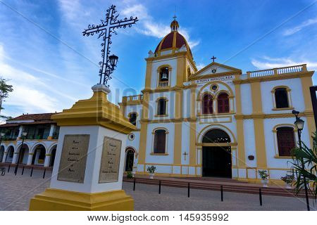 Church of the Immaculate Conception in Mompox Colombia