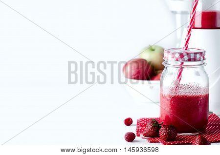 Freshness Watermelon Cocktail In A Mason Jar