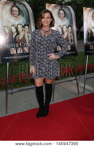 LOS ANGELES - AUG 31:  Melissa Claire Egan at the