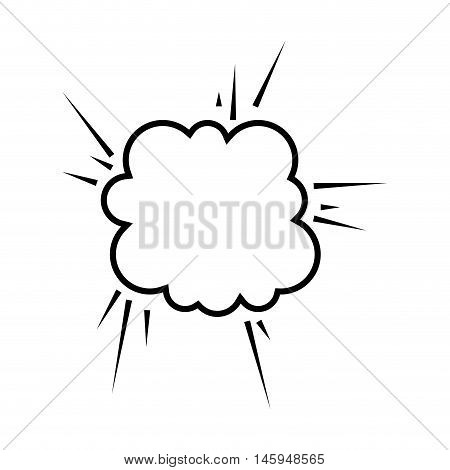 explosion comic pow expression bomb bam boom effect vector illustration