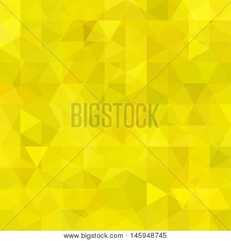Abstract Mosaic Background. Yellow Triangle Geometric Background. Design Elements. Vector Illustrati