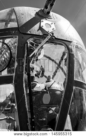 Close-up detail of B-25 Bomber, World War 2