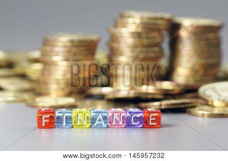 Finance Word On Dice