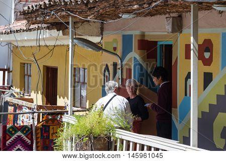 Tourists At A Restaurant