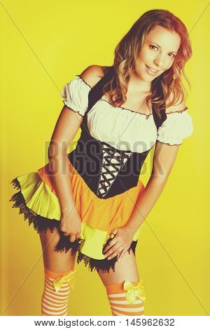 Sexy halloween witch costume woman