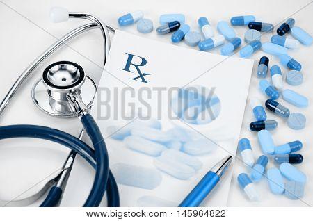 Prescription Medication Concept.