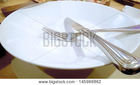 Spoon Fork and plate Abtract background and all