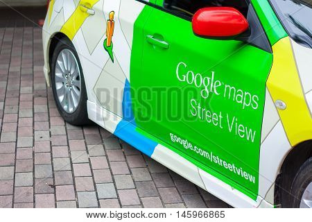 BANGKOK,THAILAND - JULY 16: A Google Maps car on view in central Bangkok as the internet giant announces the Thai capital has been added to its Street View utility on July 16,2013 in Bangkok,Thailand.