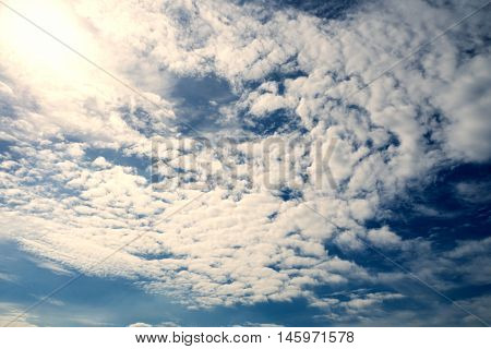 Partly cloudy in the strong sunshine day at morning